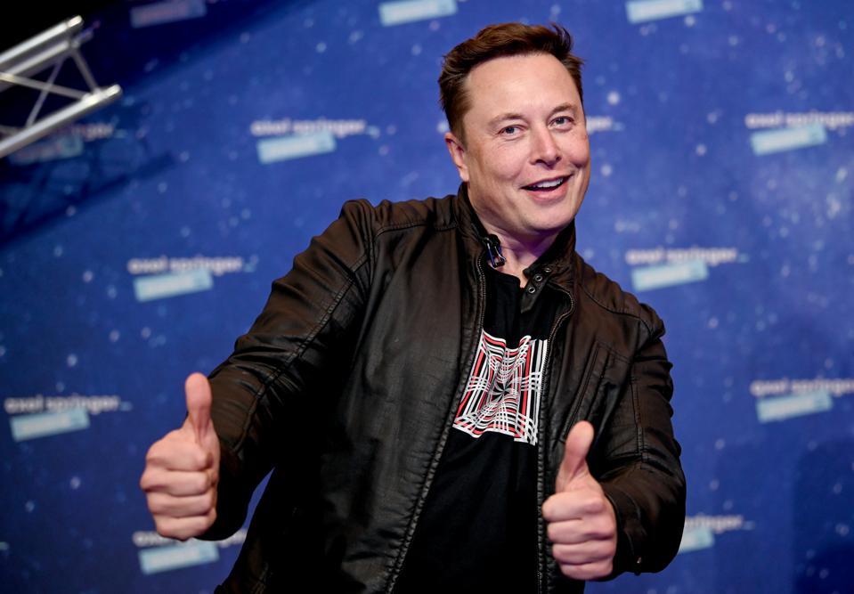 Tesla CEO Elton Musk arrives for the Axel Springer Awards on December 1 2020 in Berlin -