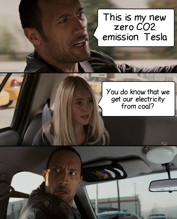 the rock - electric cars powered by coal - Energy News Beat