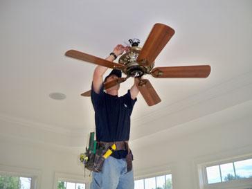 ceiling fan install