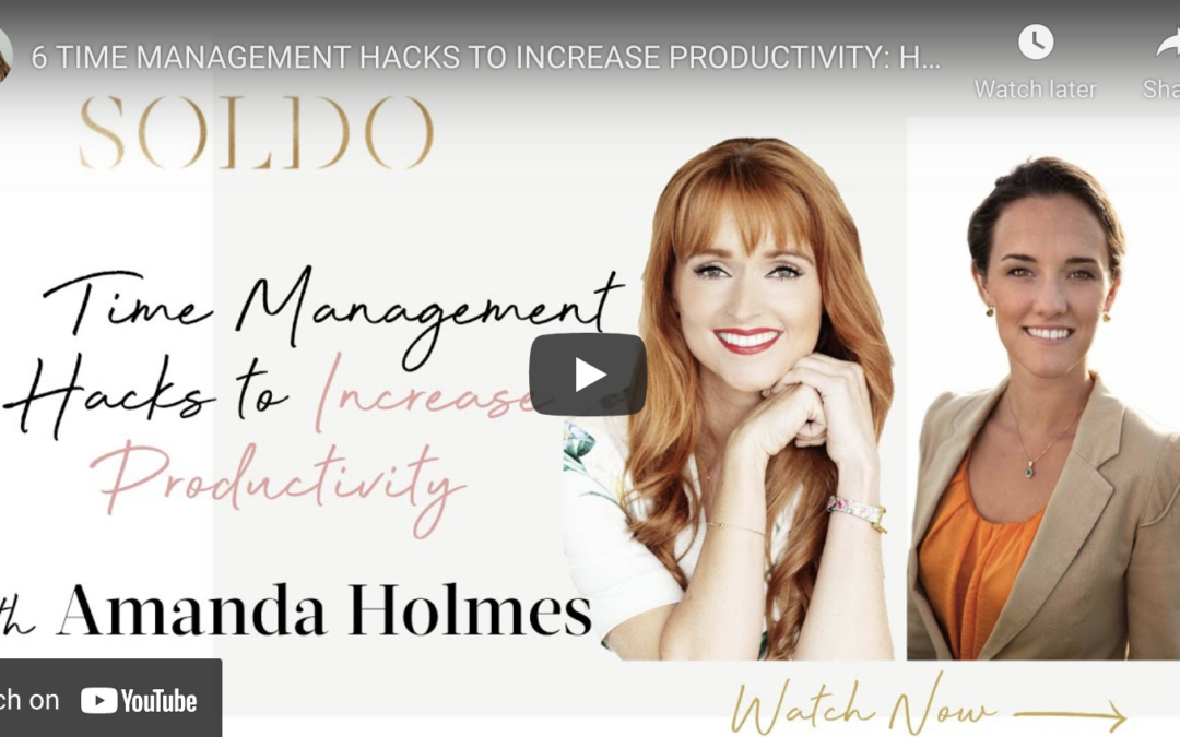 6 Time Management Secrets to Increase your productivity by 500%! Put them into practice TODAY! It only takes 15 minutes because good time management shouldn't take a lot of time.