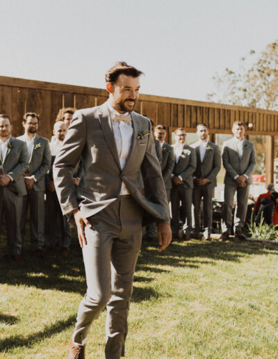 Groom seeing his Bride for the first time by McKenzie Shea