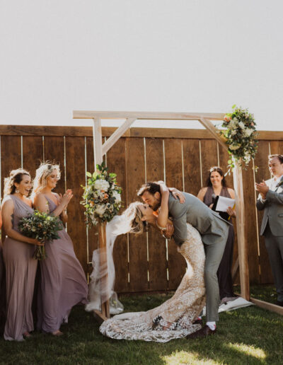 Bride and Groom's first kiss by McKenzie Shea