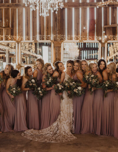 Bride and her bridesmaids photographed by McKenzie Shea