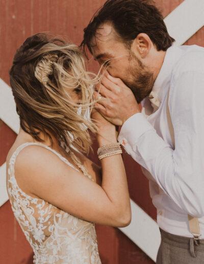 Windy California Wedding Bride and Groom Portraits by McKenzie Shea