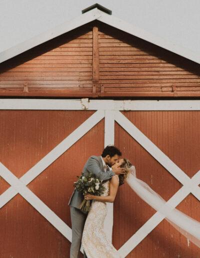 Bride and Groom barn Portraits by McKenzie Shea