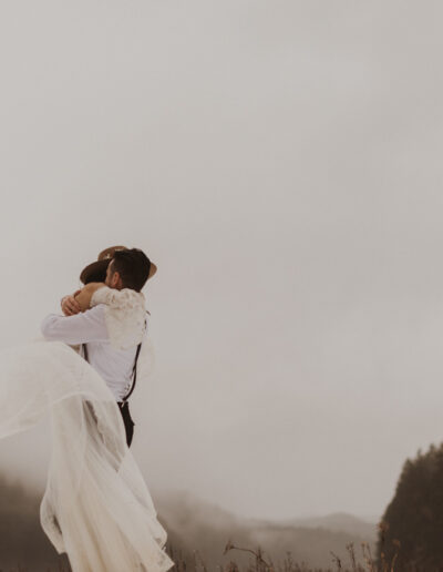 Wild Elopement moment captured by McKenzie Shea Photography