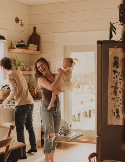 In home lifestyle family session with McKenzie Shea