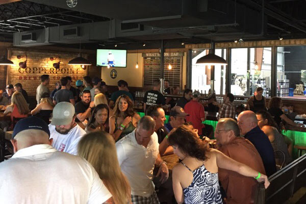 Copperpoint Taproom on a Crowded Night