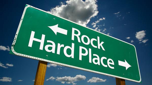 Rock and hardplace