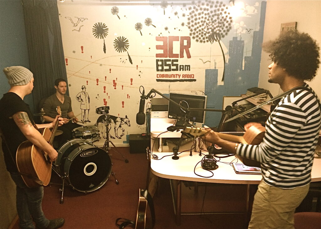 Damen Samuel - Live performance with Cam and Lach at 3CR Radio, Melbourne