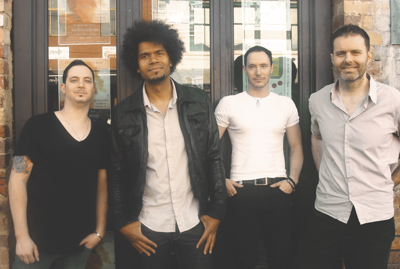 Damen and his band getting ready for the album launch of 'Odyssey'
