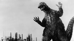 Godzilla in a scene from the film 'Godzilla VS. The Smog Monster', 1971. Toho/Getty Images