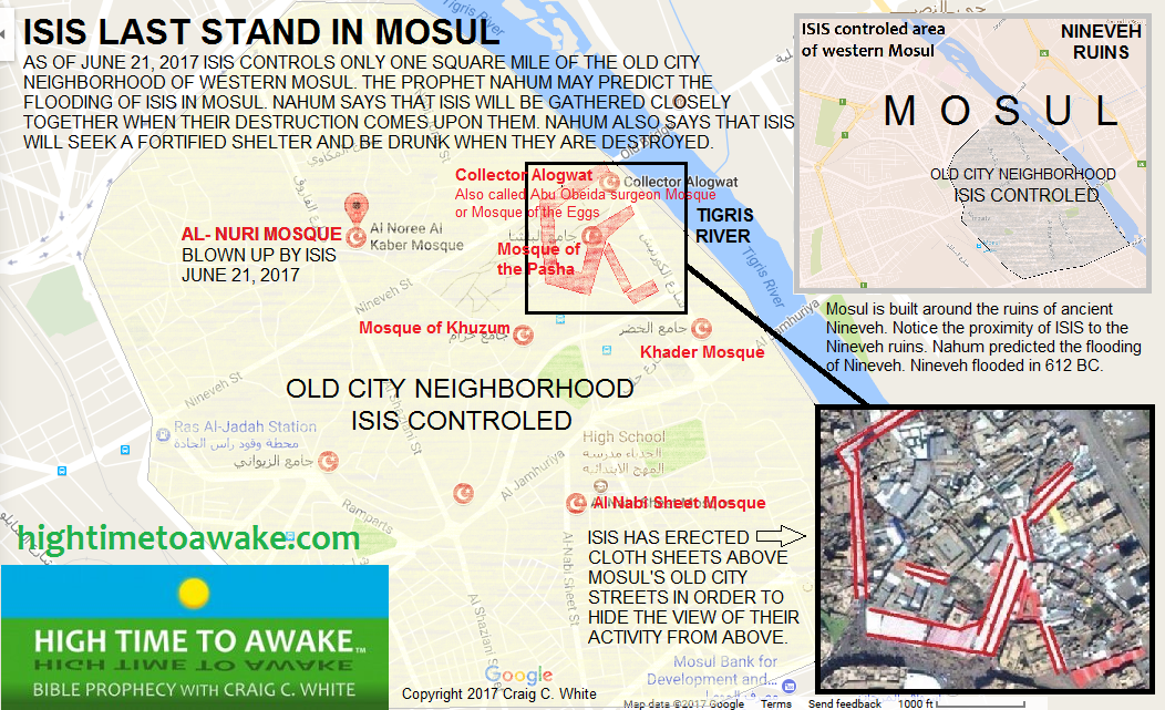 ISIS LAST STAND IN MOSUL - MAP