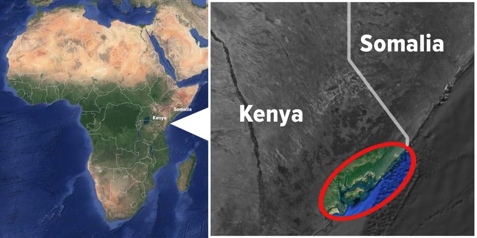 Red outline shows approximate area of Safari Doctors' routes.