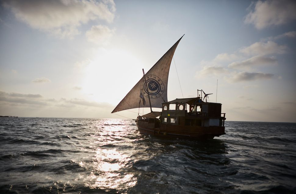 On some trips, Safari Doctors travels by wooden dhow -- a traditional Indian Ocean ship with a triangle sail -- instead of a