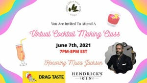 THAY cocktail making event banner