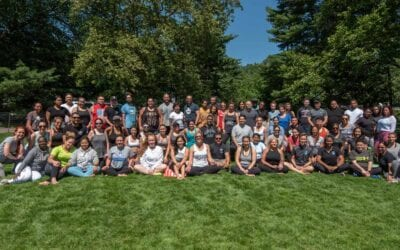 NYPD's Mindful Movement class in Central Park on June 16th, 2021