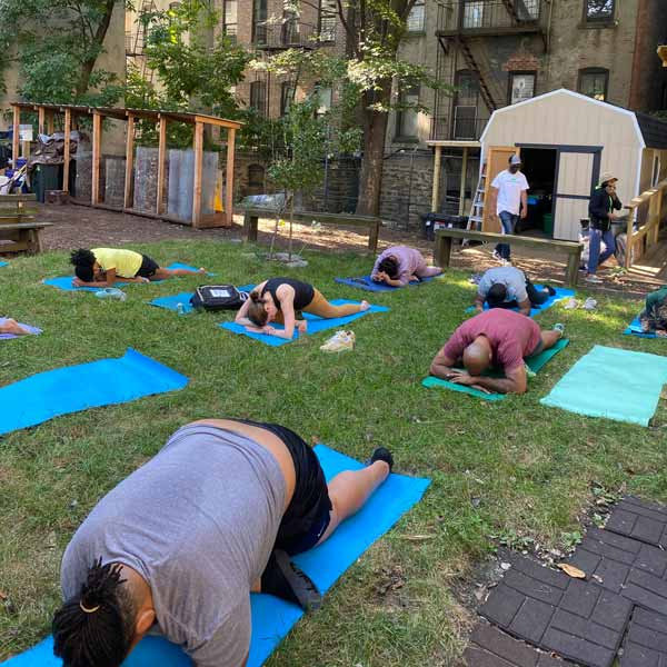 Three and a half acres - backyard yoga in Harlem