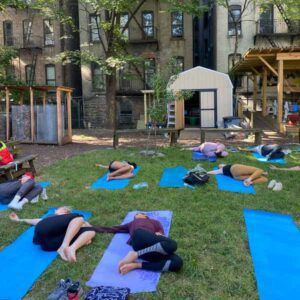 Harlem Grown - Three and a half acres - backyard yoga in Harlem