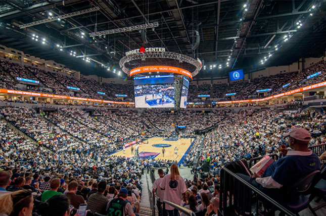 Target Center during a basketball game