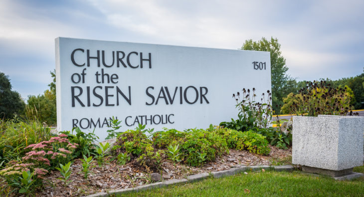 Church of the Risen Savior sign