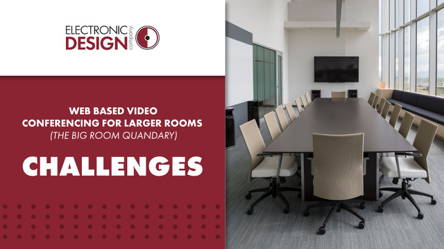 Web Based Video Conferencing for Larger Rooms (The Big Room Quandary): Challenges