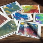 Monoprint cards to send