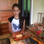 Sandwich making with Avery.