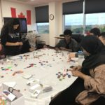 YOCISO Craft Workshop Oct. 2018: Making bottlecaps thankyous at OCISO, October 2018
