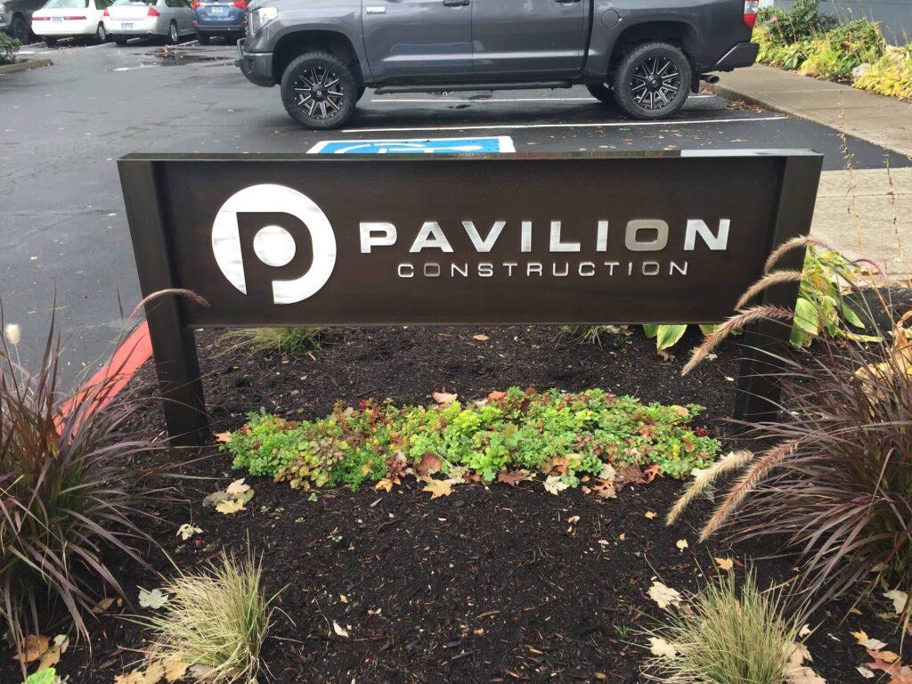 Metal Signage Pavilion