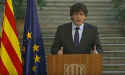 """Puigdemont pide a catalanes """"oposición democrática"""""""