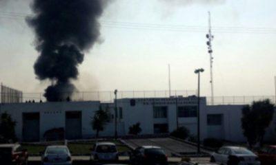Fuego en penal deja dos heridos