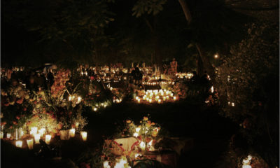 Panteón en Día de Muertos
