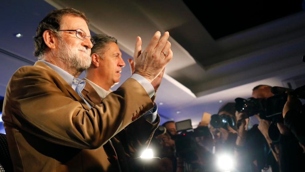 Mariano Rajoy viajó a Barcelona