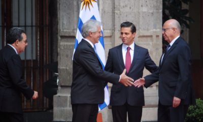 Presidente de Uruguay y Peña Nieto