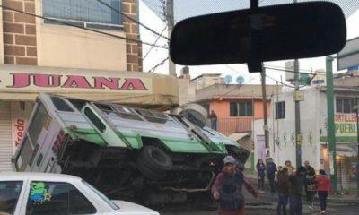 Suspenden ruta de micros por accidente en Iztapalapa