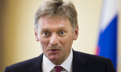 President Vladimir Putin's spokesman Dmitry Peskov speaks to the Associated Press in Moscow on Tuesday, April 5, 2016. Peskov says the Russian leader has no connection whatsoever to offshore accounts allegedly owned by his close friend, a Russian musician. Dmitry Peskov says the leaked documents from a Panama-based firm have been wilfully interpreted by an international consortium of investigative journalists to make what he called an unfounded claim that cellist Sergei Roldugin's offshore assets were linked to the Russian president. (AP Photo/Ivan Sekretarev)