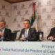 De izquierda a derecha: Arturo Blancas, director general de Estadísticas Económicas; Julio Santaella Castell, presidente del Inegi; y Jorge Reyes, director general adjunto de Índices de Precios.