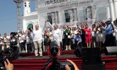 AMLO, Romero Deschamps, Villahermosa