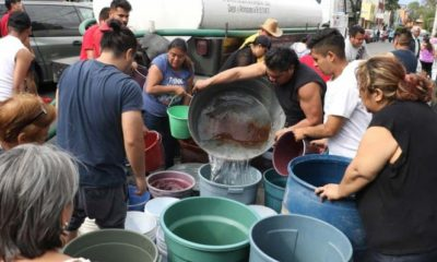 corte de agua, Iztapalapa