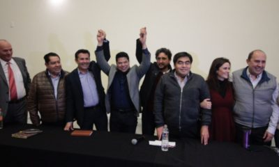 Fracciones de Morena, PES y PT declaran unidad en Puebla.