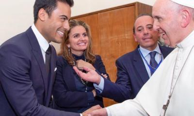 Carlos Rivera, Sebastián Yatra, Papa Francisco, Francisco, Embajadores, Roma, Italia, Vaticano, Scholas, Scholas Ocurrentes,