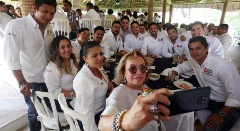 Elba Esther Gordillo, Esther Gordillo, Gordillo, Reaparece, Chiapas, Reunión, Partido, Nueva Alianza, Partido, Redes Sociales, Progresistas,