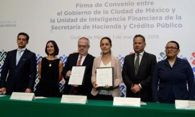 Sheinbaum y Urzúa firman convenio contra financiamiento ilícito
