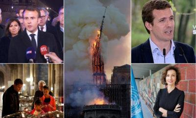 Reacciones en el Mundo por el incendio de la iglesia de Notre Dame