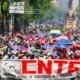 CNTE sale del Zócalo de la CDMX rumbo a Cámara de Diputados