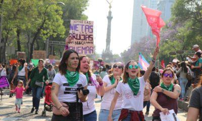 Marcha, Feminista, Mujeres, Manifestación, Policías, Seguridad, Resguardo, CDMX, Ángel, Independencia, Zócalo,