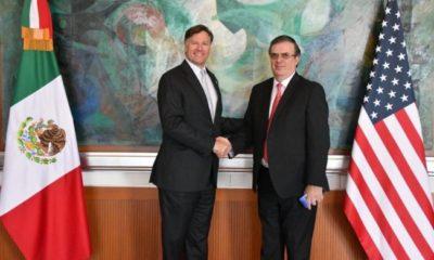 Ebrard y Landau encabezan reunión con gabinete de seguridad