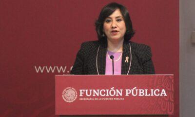 Eréndira Sandoval defiende a Ruiz Saldaña, quien acusa reelección fraudulenta en el INE