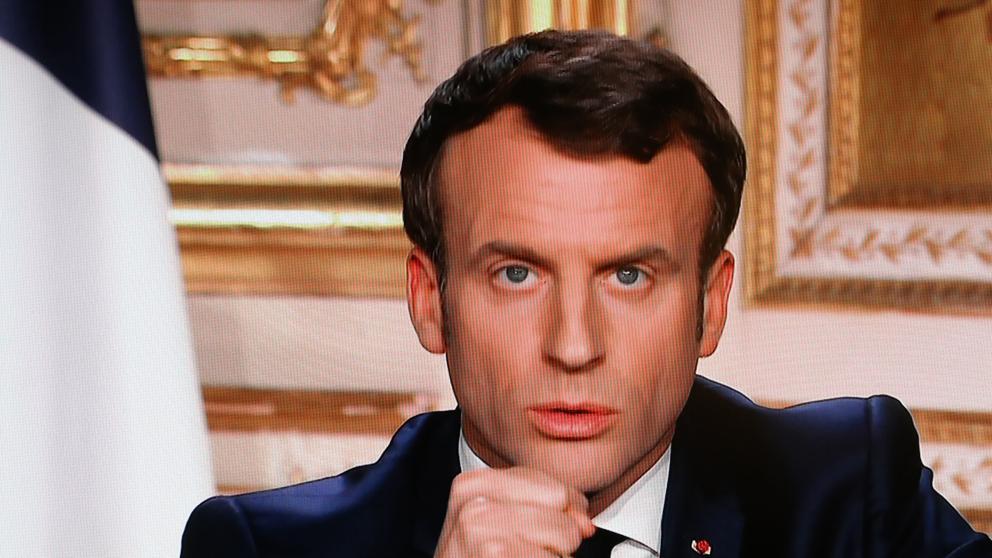 Emmanuel Macron cierra fronteras de Francia por coronavirus